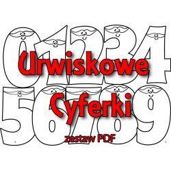 Zestaw URWISKOWE CYFERKI - wersja PDF + dyplom personalizowany