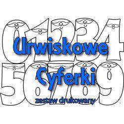 Zestaw URWISKOWE CYFERKI - wersja drukowana + teczka lub dyplom personalizowany