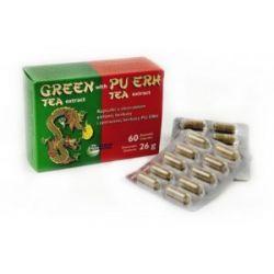 Ekstrakt z zielonej herbaty z herbatą Pu-erh 60kaps...