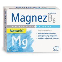 Magnez z witaminą B6 60kaps...
