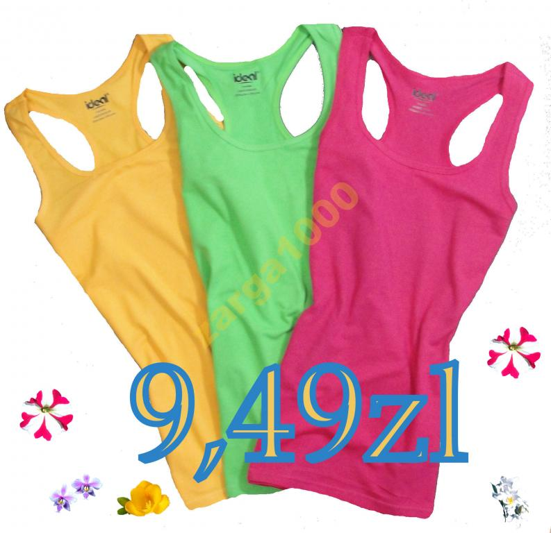 8207a6bf43e7e0 Bluzka top na ramiaczka bokserka .kolory OKAZJA na Bazarek.pl