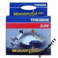 H4 Mega Light Plus +60% kpl/2szt żarówki TUNGSRAM