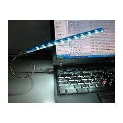 LAMPKA( giętka) DO NOTEBOOKA NA USB 10 LEDS Komputery