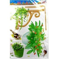NAKLEJKA NAKLEJKI ŚCIANA MEBLE---zielona weranda Woreczki i torby foliowe