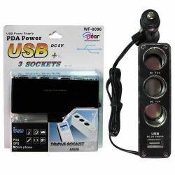 SAMOCHODOWY ROZDZIELACZ ŁADOWAREK 1/3 +USB Sprzęt car audio