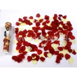 WYSTRZAŁOWE KONFETTI- bordowe róże i kremowe serca Wieczór panieński