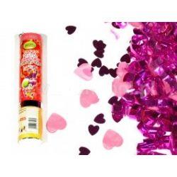 WYSTRZAŁOWE KONFETTI-małe i duże różowe serca Ślub i wesele