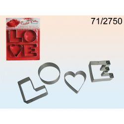 SZABLON FORMA FOREMKI DO WYKRAWANIA---LOVE