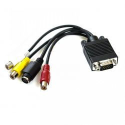 KABEL WT.VGA - GN.S-VIDEO + 3GN.RCA