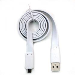 KABEL USB -- MICRO USB PŁASKI BIAŁY