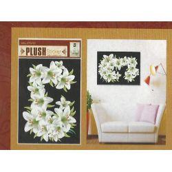 NAKLEJKA NAKLEJKI ŚCIANA MEBLE-3 D  kwiaty Zegary