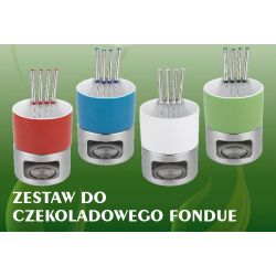 ZESTAW DO FONDUE - 500 ml ZIELONE