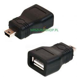 ADAPTER PRZEJŚCIÓWKA ŻEŃSKI USB- MINI USB