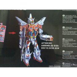 GUNDAM-GALAKTYCZNY HEROS 3 robot puzzle 3D Figurki