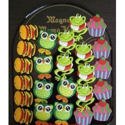 MAGNES MAGNESY NA LODÓWKĘ-- zwierzątka ciastka