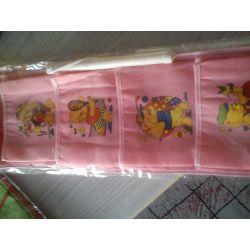 WISZĄCE KIESZONKI  ORGANIZER na zabawki różowe Pokój dziecięcy