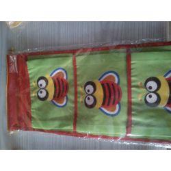 WISZĄCE KIESZONKI  ORGANIZER na zabawki zielony Pokój dziecięcy