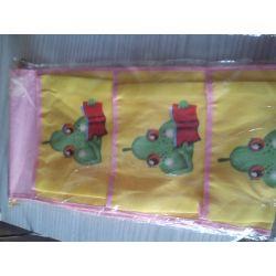 WISZĄCE KIESZONKI  ORGANIZER na zabawki żółta Pokój dziecięcy