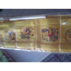 WISZĄCE KIESZONKI  ORGANIZER na zabawki żółte Pokój dziecięcy