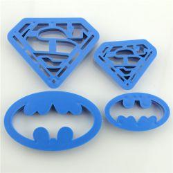 PLASTIKOWE FOREMKI WYKRAWACZE 4szt BATMAN SUPERMEN