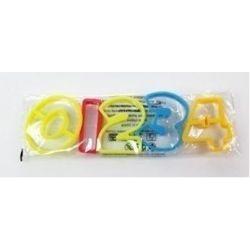 PLASTIKOWE FOREMKI wykrawacze CYFERKI od 0-4 Dekoracje cukiernicze