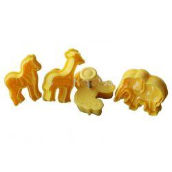 PLASTIKOWE FOREMKI WYKRAWACZE  4 szt  zwierzątka Podkładki i maty