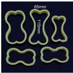 PLASTIKOWE FOREMKI wykrawacze CIASTEK- 5 szt kość Uniwersalne