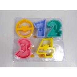 PLASTIKOWE FOREMKI wykrawacze CYFERKI od 0-4 Pudełka