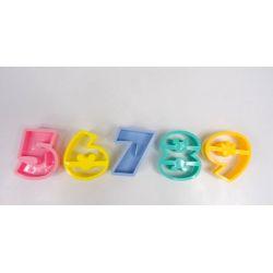 PLASTIKOWE FOREMKI wykrawacze CYFERKI od 5-9 Delikatesy