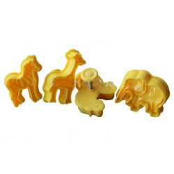 PLASTIKOWE FOREMKI WYKRAWACZE  4 szt  zwierzątka