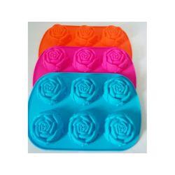 FOREMKA FORMA SILIKONOWA - muffinki babeczki róża Blachy i formy do pieczenia