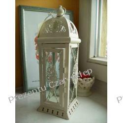 Latarnia metalowa ze szkłem