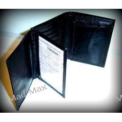 Portfel męski skóra naturalna (bycast) M-32 (Czarny)