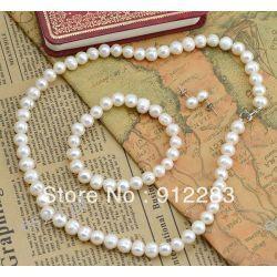 biżuteria z barokowych białych pereł