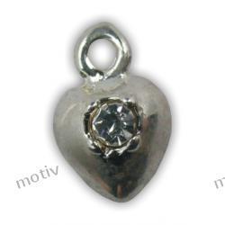 Kolczyk do paznokci serduszko srebrne z cyrkonią SILVER DESIGN