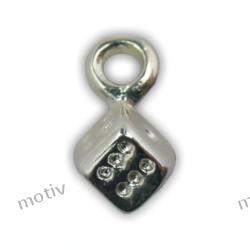 Kolczyk do paznokci kostka srebrna SILVER DESIGN