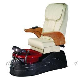 Fotel Pedicure Spa Aruba Czerwony z regulacją pilotem