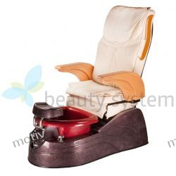 Fotel Pedicure Spa Aruba Kremowy z regulacją pilotem