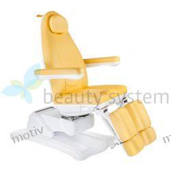 Elektryczny fotel kosmetyczny Mazaro BR-6672C Żółty