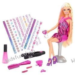 Barbie Fantastyczne pasemka (BDB19) + Zestaw fryzjerski
