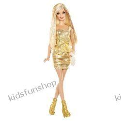 Barbie Fashionistas Lalka złota