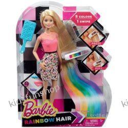 Barbie lalka tęczowe włosy