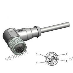 Kabel czujnika M12/4PIN ŻEŃSKI,wtyk kątowy, 2mb Muzyka i Instrumenty