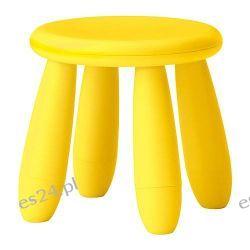 IKEA MAMMUT Stołek dziecięcy, jasnożółty