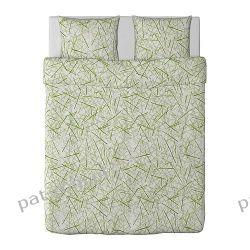 IKEA GRONKULLA Kpl pościeli, biało-zielony 200x200