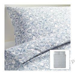 IKEA BLADVASS Komplet pościeli, biało-nieb 200x200