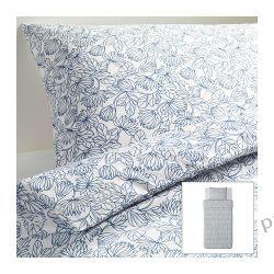 IKEA BLADVASS Komplet pościeli, biało-nieb 150x200