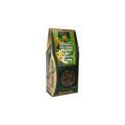 Herbata zielona z owocem pigwy i kwiatem krokosza