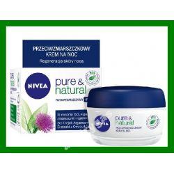 Nivea Pure i Natural Krem przeciwzmarszczkowy na n