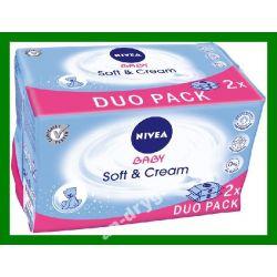Nivea Baby Chusteczki Soft  Cream duopack